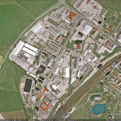 Google Earth Bild des Industriegebietes Gingster Chaussee